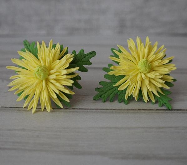 Резинка для волос (пара) Хризантемка жёлтая в Stranamasterov.by