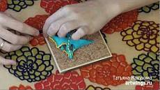 Бирюзовый дракон из полимерной глины