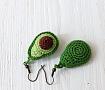 Серёжки крючком Серёжки-авокадо в Stranamasterov.by