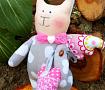 Интерьерная игрушка Котик - Ангелочек Мотя в Stranamasterov.by