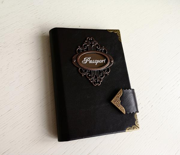 Обложка для паспорта Натуральная кожа в Stranamasterov.by