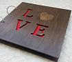 Деревянный фотоальбом LOVE (25*25см) в Stranamasterov.by