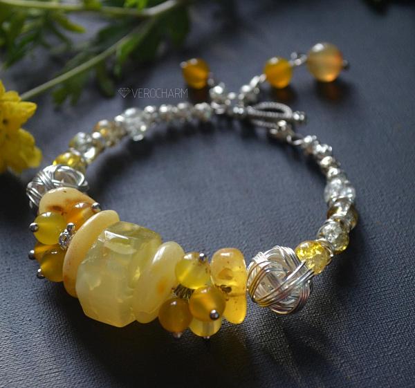 Браслет из камней Lemon в Stranamasterov.by