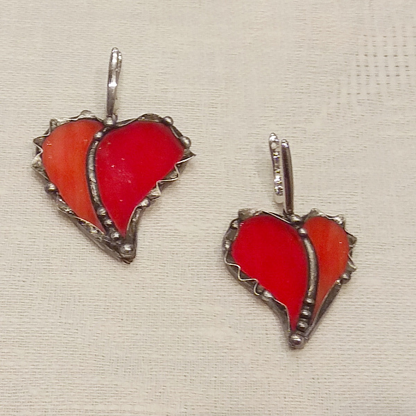 Серьги Два сердца в Stranamasterov.by