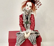 Коллекционная кукла Пьеро в Stranamasterov.by