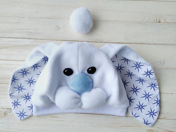 Новогодняя шапочка Уши зайца, хвост в Stranamasterov.by