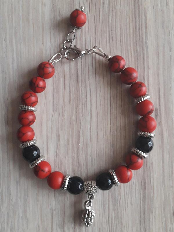 Браслет из натур. камней Red&black в Stranamasterov.by