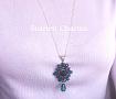 Кулон с цепочкой Изумрудные кристаллы в Stranamasterov.by
