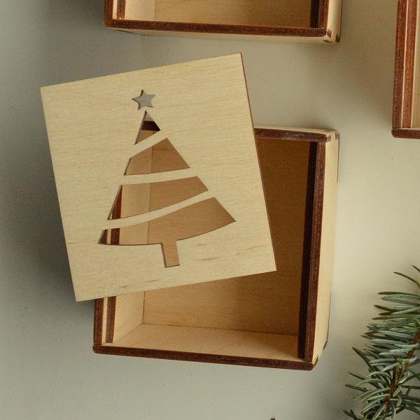 Подарочная коробка Елка Фанерная небольшая в Stranamasterov.by