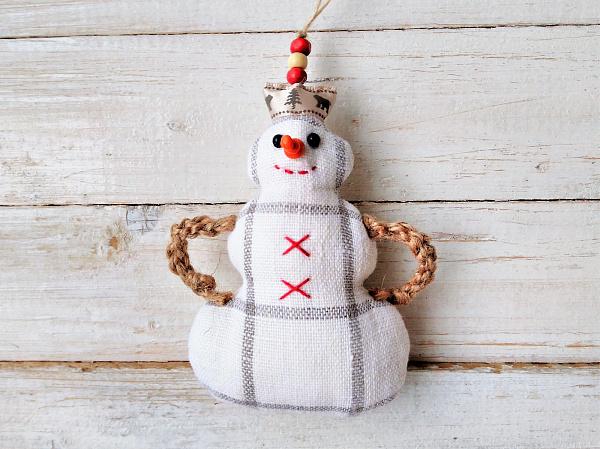 Новогодняя подвеска Снеговик в Stranamasterov.by