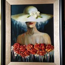 Алла Францевна-вышивка картин лентами
